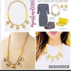 Stella & Dot Jewelry - Stella and dot grey and yellow necklace
